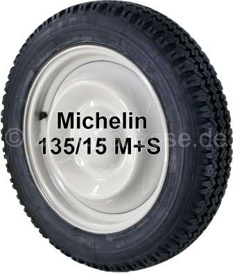 Citroen-2CV Winter tire mounts on a new rim, 135/15. Manufacturer Michelin. We use only our own, serie