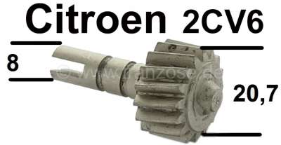 Citroen-2CV 2CV6, speedometer pinion in gearbox. 16 theeth! The pinion has an outside diameter of 20,7