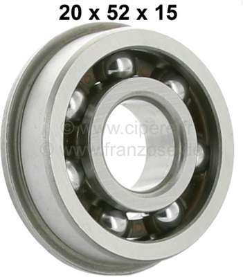 Citroen-2CV Bearing primary shaft rear, reproduction. Suitable for Citroen 2CV6.  Inside diameter: 20m