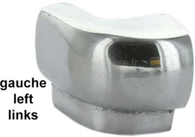 Citroen-2CV 2CV, Luggage compartment lid - hinge closing cap on the left. Reproduction from polished a