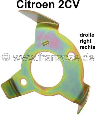 Citroen-2CV Securement yoke for turn signals on the right in fender Citroen 2CV. Made in Germany.