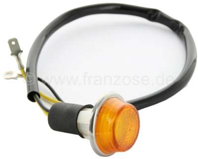 Citroen-2CV Side indicator for the rear side at the front fender. Suitable for Citroen 2CV, Dyane, HY,