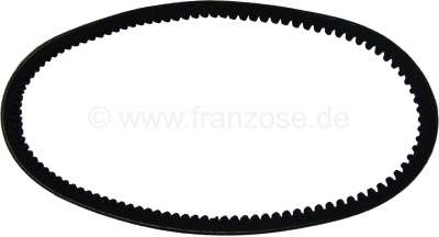 Citroen-2CV V-belt for Citroen 2CV4+6 (to production end). Size: 9.5 x 762mm.