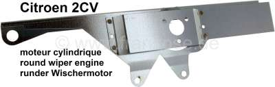 Citroen-2CV 2CV, sheet metal holder for the round wiper engine. Suitable for Citroen 2CV6.
