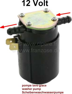 Sonstige-Citroen Washer pump, electrically, color black. Suitable for Citroen DS. This pump is to be used a
