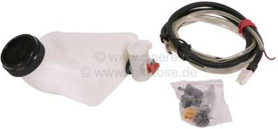 Citroen-DS-11CV-HY Washer reservoir electrical, 12 V, for horizontal installation!  Universal use. Inclusive