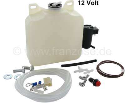 Citroen-2CV Washer reservoir electrical with built-in set for 2CV and other  classical cars. Complete