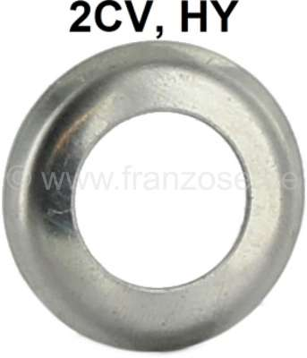 Citroen-2CV Wiper axle chrome ring, Citroen 2CV, HY. Is mounted over the sealing rubber of the wiper a
