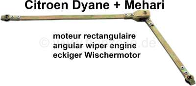 Citroen-2CV Wiper engine linkage, to the wiper axles. Suitable for Citroen Dyane, Acadiane, Mehari, wi