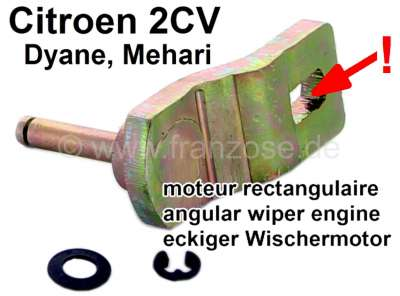 Citroen-2CV Wiper engine propulsion lever (transmission lever), for the connection to the wiper linkag