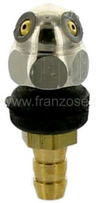 Citroen-2CV Wiper system nozzle chromium-plates. Suitable for all Citroen 2CV starting from year of co