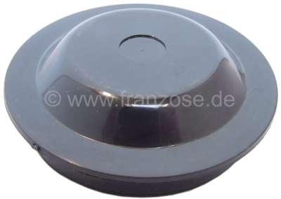 Citroen-2CV Grease cap rear, synthetic, for Citroen 2CV + DS. Cover for the wheel bearing, rear in the