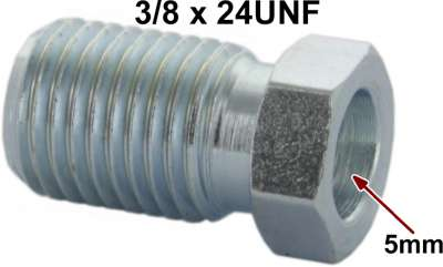 Renault Flange screw 3/8x24UNF for 5mm line. Length + wide ones over everything: 10 x 18mm