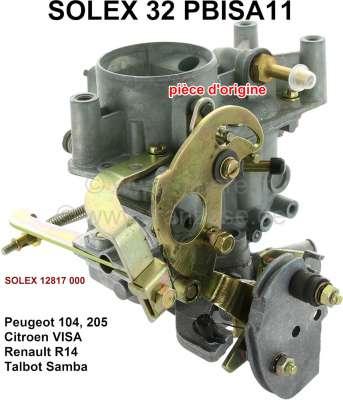 Peugeot P 104/205/R14/Visa/Talbot, carburetor SOLEX 32PBISA11 (no reproduction). Carburetor diamet