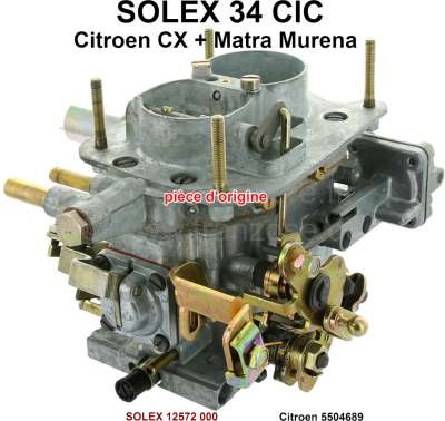 Peugeot Carburetor SOLEX 34CIC (no reproduction). Suitable for Citroen CX 2000 (75kW), from year o
