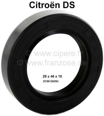 Citroen-DS-11CV-HY Camshaft seal, suitable for Citroen DS. Dimension: 29x46x10. Made in Germany.