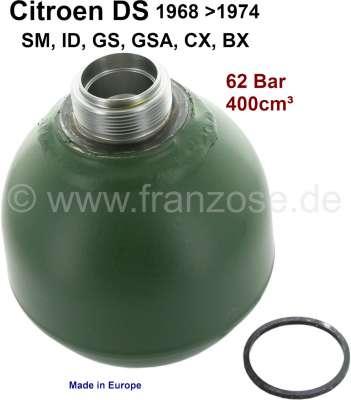 Sonstige-Citroen Pressure accumulator ball, reproduction. 400ccm, 62 bar. Suitable for Citroen ID-DS, BX, G