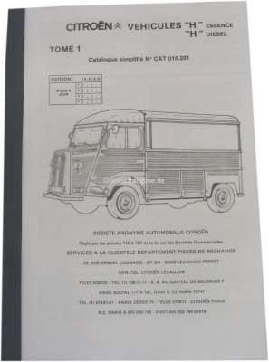 Spare parts catalog, for Citroen HY Essence + Diesels  Simplified