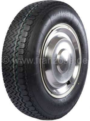 Citroen-DS-11CV-HY Tire Retro 185HR15. Mounted and balanced on new rim (with ECE permission). Suitable for Ci