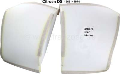 Citroen-DS-11CV-HY Foam material upholstery (2 sections) for the backrest of the seat bench rear. Suitable fo