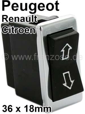 Peugeot Window lifter switch, with chrome frame. Suitable for Peugeot 504, 604. Citroen CX1. Renau