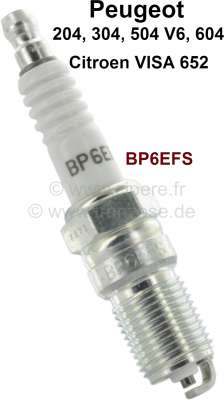 Sonstige-Citroen Spark plug Visa Club, BP6EFS, Peugeot 204, 304 with engine XK/XK4/XL3. Peugeot 504 2,7 V6