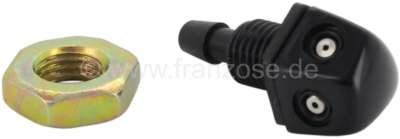 Sonstige-Citroen Windscreen washer nozzle black. Universal fitting. 4mm hose connection. The washer nozzle