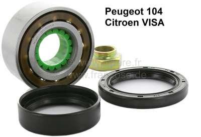 Peugeot P 104/Visa, wheel bearing set for the front axle.  Suitable for Peugeot 104. Citroen Visa