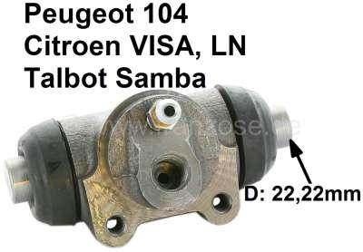 Sonstige-Citroen Wheel brake cylinder rear, brake system DOT. Suitable for Citroen LN, Visa. Peugeot 104, T