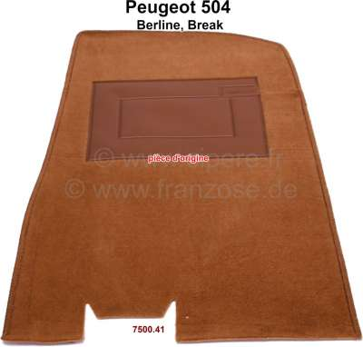Peugeot P 504, carpet mat in front on the right. Color: brown darkly (Brun 5310). Original Peugeot