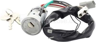 Peugeot P 204/304/404/504. Starter lock with key recognition. Suitable for many Peugeot models of