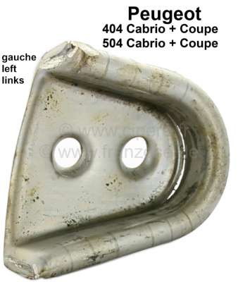 Peugeot P 404/504, cotter - centering wedge metal guide on the left. Suitable for Peugeot 404 Cabr