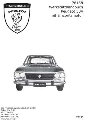 p 504 addition of service manual peugeot 504 in german only the rh franzose de Peugeot 405 Peugeot 405
