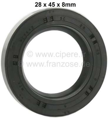 Renault Shaft seal differential. Dimension: 28 x 45 x 8mm. Suitable for Renault 4 (first version).