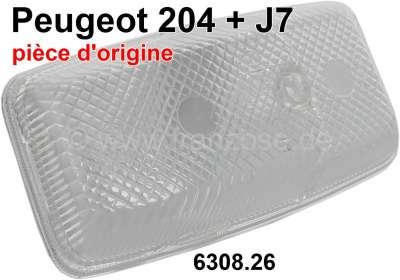 Peugeot P 204/J7, turn signal cap + parking light cap on the left (without orange under cap). Suit
