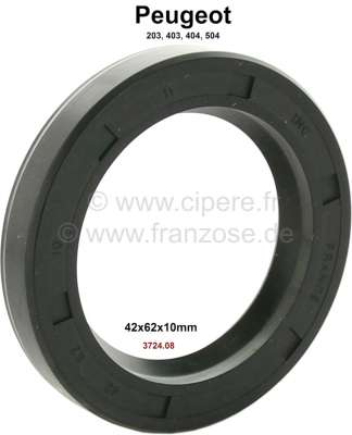 Peugeot P 203/403/404/504, wheel bearing shaft seal in front. Suitable for Peugeot 203, 403, 404,