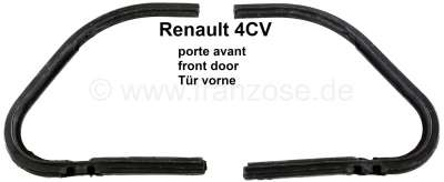 Renault 4CV, seal (2 pieces) for the triangle window. Suitable for Renault 4CV.