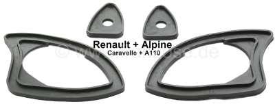 Renault Caravelle/Floride/A110, rubber seals under the door handles (1 set, for both sides). Suita