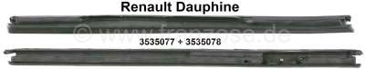 Renault Dauphine, rubber (2 pieces) for the triangle window. Suitable for Renault Dauphine. Or. No