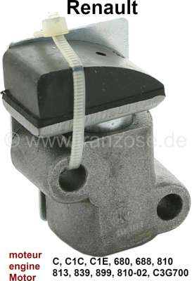 Renault Camshaft drive chain tensioner. For camshaft drive chain, with 58 links. Engine: C, C1C, C