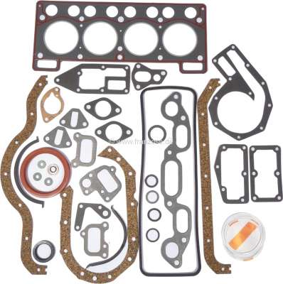 Renault R4, Engine gasket set completely, inclusive shaft seals. Suitable for Renault R4, Super (9