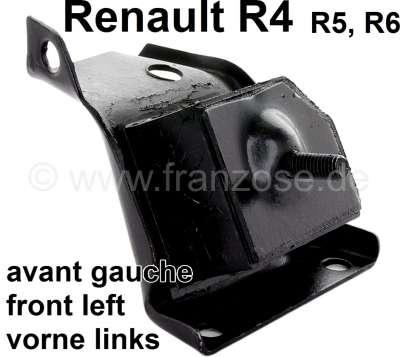 Renault R4/R5/R6, engine suspension in front on the left. Suitable for Renault R4 (R1128, R2370, R