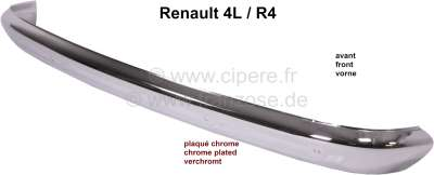 Renault R4, Bumper in front (reproduction), chromium-plates. Suitable for Renault R4. The bumpers