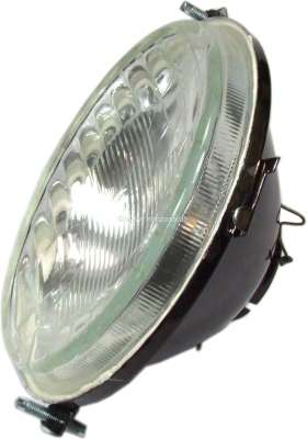 Renault R4, headlamp approximately, without parking light. Concave (inward curved glass). Bulb soc