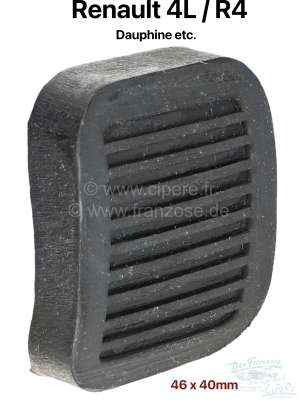 Renault Pedal rubber, for the brake - and clutch pedal. Old version. Suitable for Renault R4, Daup