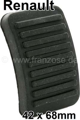 Renault Pedal rubber for Renault R16, R4, Dauphine, R5 etc. 68x42mm, Or. No. 7700517674 + 6060908