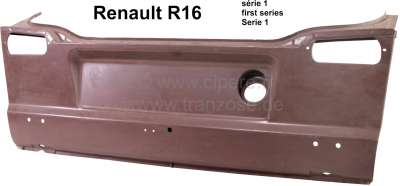 Renault R16, rear end panel 1 version. Suitable for Renault R16. Or. No. 0857546500