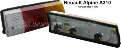 Renault A310/R15/R17, tail lamp completely (with support) on the left + on the right (1 set). Suit