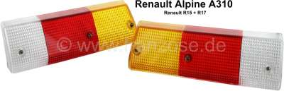 Renault A310/R15/R17, taillight cap on the left + on the right (1 set). Suitable for Renault Alpin