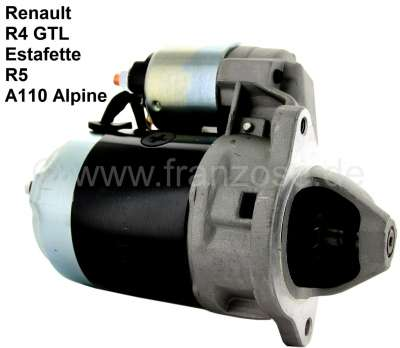 Renault Starter motor, suitable for Renault R4 GTL (1100cc), of year of construction 10/1975 to 06